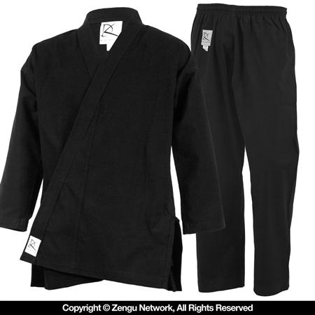 11 oz Black Heavyweight Karate Uniform
